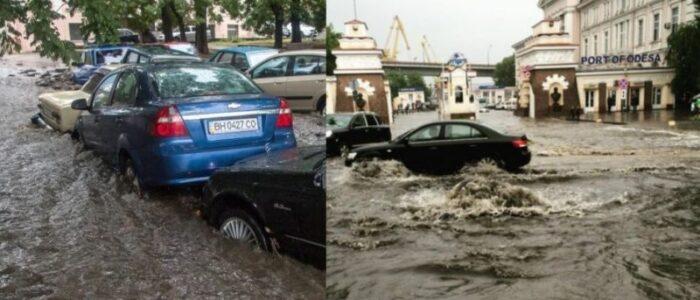 Нeщaднa повінь за лічені хвилини затопила всю Одесу: люди рятуються хто як може, затоплені машини і підвали – відео